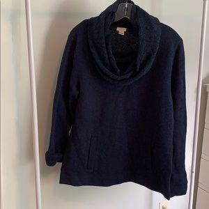 Navy cowl neck pullover from Jcrew